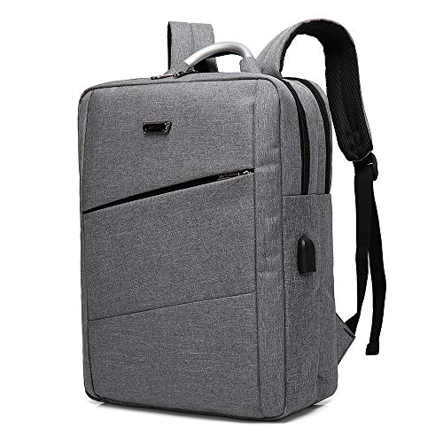 YONiMO リュック PC 大容量 15.6インチ USBポート ビジネス リュック バックパック 大学生 通勤 通学 旅行 多機能 PCバッグ リュックサック PC対応 (グレー)