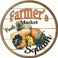 Smart Blonde Farmers Market Squash ノベルティメタル円形サイン C-625