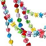 ハロウィン クリスマス 誕生日 ガーランド ハンギング オーナメント 星 五芒星 バタフライ ステレオ バナー ガーランド フェスティバル 卒業式 カラフル フラッグ レース パーティー サプライ (長さ8.5フィート×3点)