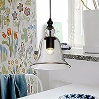 ランプペンダントライトモダンベル形状ガラスdroplightlight Hanging Lampヴィンテージランプ装飾のダイニングルームホーム照明