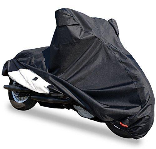 バイクカバー【6L】 耐熱 防水 厚手 溶けない 超撥水 オックス300D 蒸れない 盗られない ビッグスクーター ハーレー等
