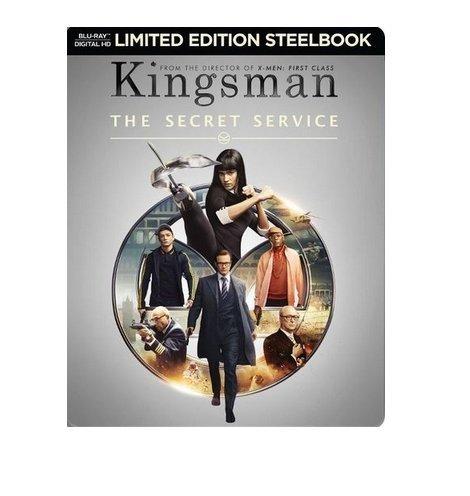 The Kingsman: The Secret Service Limited Edition Steelbook (Blu Ray + Digital HD)