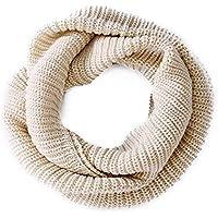 Women's Winter Infinity Scarf Knitted Thicken Neckerchief Neck Long Scarf Shawl Soft Warm Scarves (Beige)