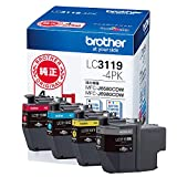 【brother純正】インクカートリッジ4色パック(大容量) LC3119-4PK 対応型番:MFC-J6983CDW、MFC-J6583CDW、MFC-J5630CDW 他