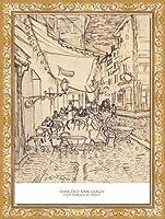 ポスター フィンセント ファン ゴッホ Cafe Terrace at Night 1888 額装品 ヴィースフレーム(ゴールド)