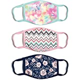 ABG Accessories Women's 3-Pack Adult Fashionable Germ Protection, Reusable Fabric Face Mask, B087YV8ZYG