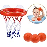 Leorealko Toddler Bath Toys Bath Toys for Toddlers Toddler Bath Toy Bath Toys Toddler Toddler Bath Toys Set Toddler Bath Toys Kids Basketball Hoop Bathtub Water Play Set for Baby Girl Boy