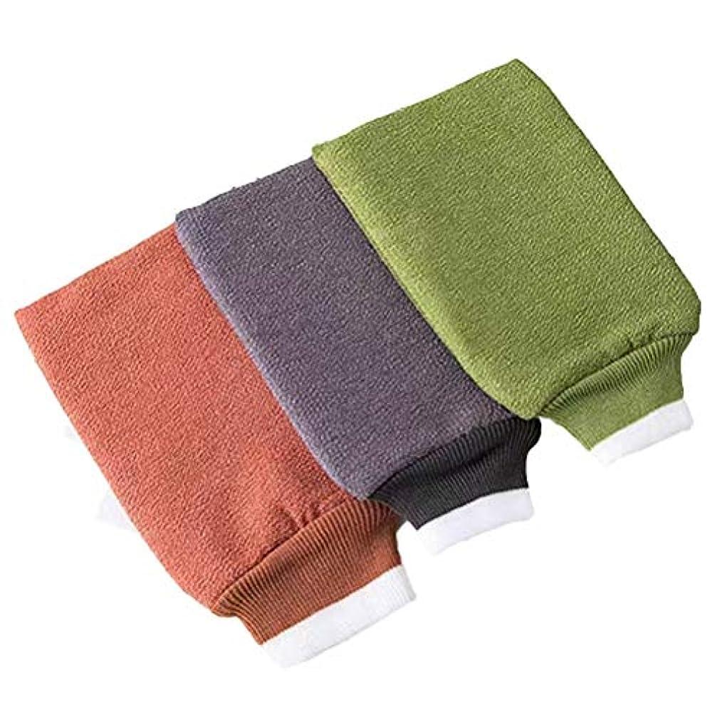 新鮮なヘッドレス意味TOPBATHY 6ピースバスウォッシュタオル剥離バスグローブバックスクラバーデュアルサイドバスタオル用ボディ用入浴シャワースパブラシ
