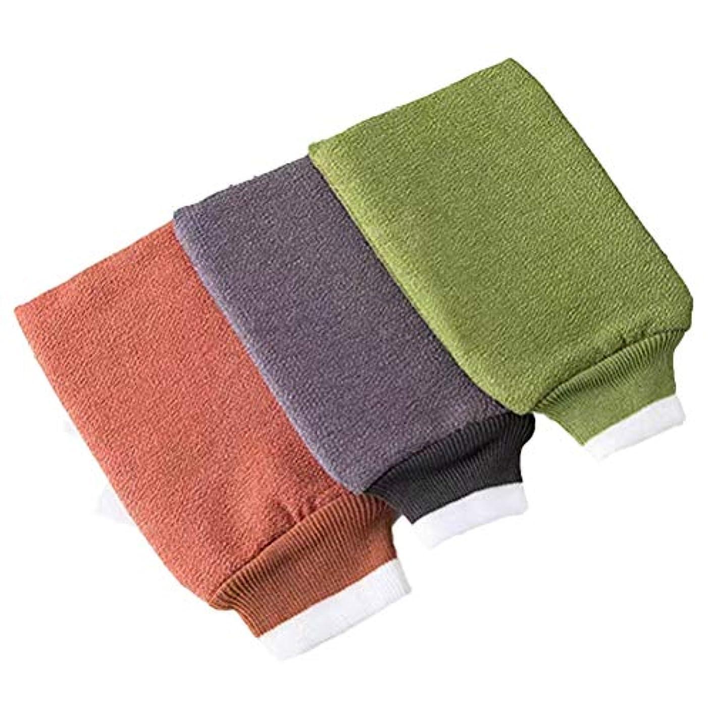 略語私たちのものモンクTOPBATHY 6ピースバスウォッシュタオル剥離バスグローブバックスクラバーデュアルサイドバスタオル用ボディ用入浴シャワースパブラシ
