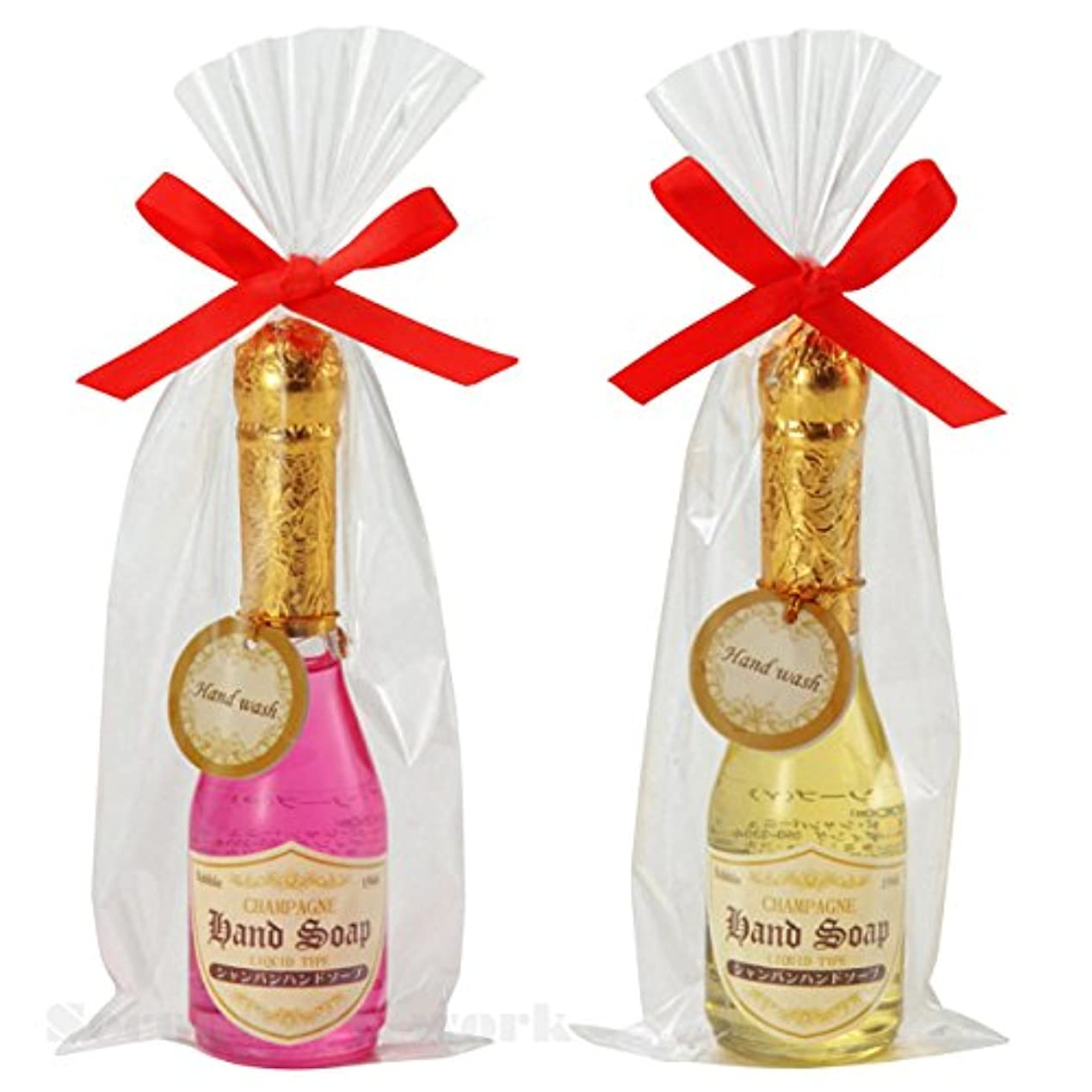 はず事業内容千【96本セット販売(2色取混ぜ)】シャンパンハンドソープ イエロー?ピンク2色取混ぜ