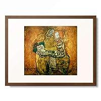 エゴン・シーレ Egon Schiele 「Mother and two children II」 額装アート作品