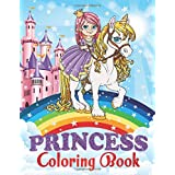 Princess Coloring Book: Great Gift for Kids Ages 4-8