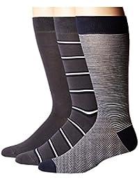 (ラコステ) LACOSTE メンズソックス?靴下 3-Pack Striped Jersey Cotton Blend Socks [並行輸入品]