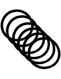 クラン ヘアゴム リングゴム 結び目の無い内径 5cm 太さ4mm 高品質ゴム仕様 (ナイトブラック 黒色 6点)