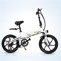 GT20 48V * 350W折りたたみ自転車20インチ電動マウンテンバイク5 PASサイクリング自転車コンピューター付きリチウムオンバッテリー 電動アシスト自転車 (白, 1备用电池)