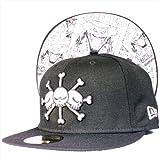 サイズ:7 1/8 ONE PIECE X New Era Cap ワンピース × ニューエラ 5950キャップ アンダーバイザー マーシャル・D・ティーチ (黒ひげ) ブラック ホワイト