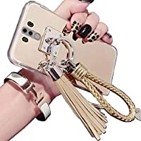 LeEco Le 2/S3 Mirror ケース, Beautiful Hand Sling Anti-Slip Strap Tassel Luxury Shiny Make-Up Mirror Thin カバー, TAITOU Awesome Ultralight Slim Phone ケース For LeEco Le 2/S3 Gold