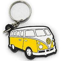 ラバーキーホルダー Volkswagen ワーゲンバス イエロー