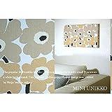 ファブリックパネル marimekko miniunikko 40×22×2.5cm 単品販売 ベージュ マリメッコ ミニウニッコ インテリア リビング アリス 北欧 同梱可