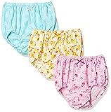 [ガロー] 3枚組 ショーツ 総柄 リボン付き/綿100% ガールズ ピンク・黄色・水色 日本 130 (日本サイズ130 相当)