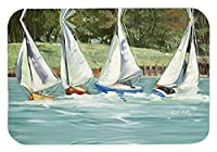 Caroline's Treasures Sailboats on the bay Mouse Pad/Hot Pad/Trivet (JMK1035MP) [並行輸入品]