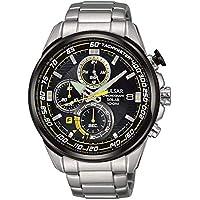 Pulsar Men PZ6003X Year-Round Chronograph Solar Powered Silver Watch