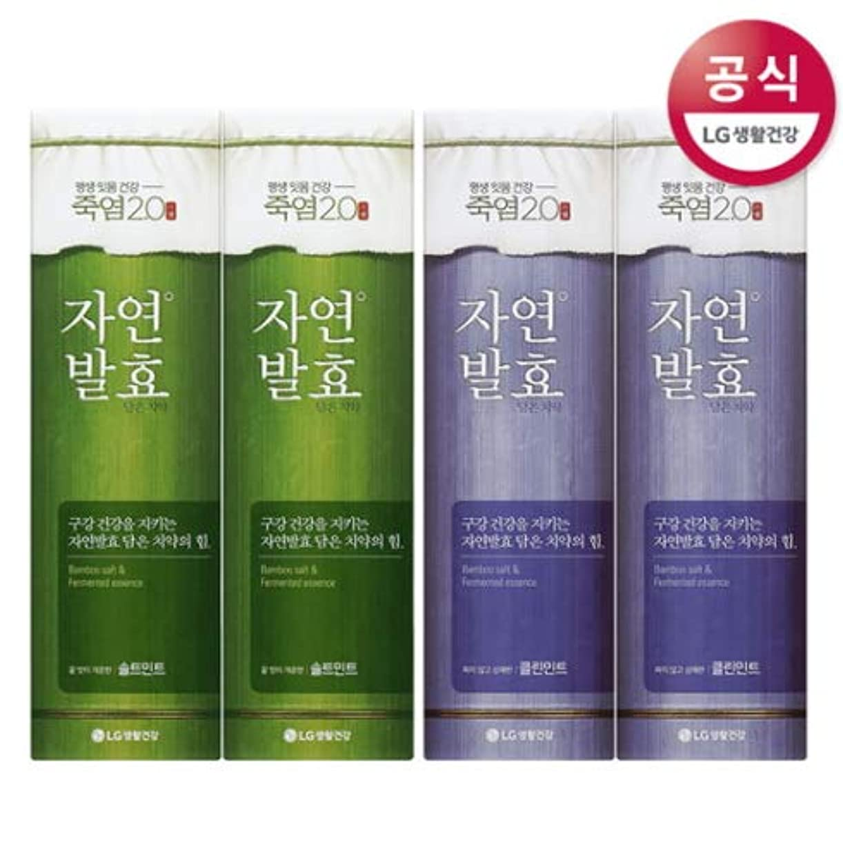 オン包帯うまくやる()[LG HnB] Bamboo salt natural fermentation toothpaste/竹塩自然発酵入れた歯磨き粉 100gx4個(海外直送品)