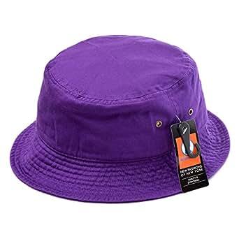 (ニューハッタン) NEWHATTAN バケットハット ハット HAT 帽子 無地 (L/XL(60~61cm), パープル) [並行輸入品]