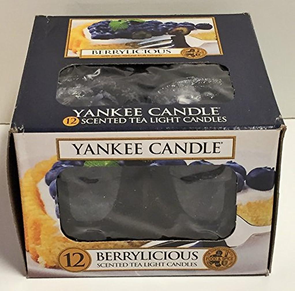 Yankee Candle Berrylicious、フルーツ香り Scented Tea Lights ブルー 1311125