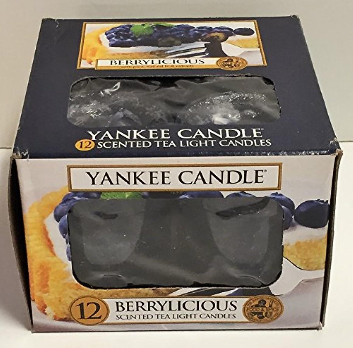 のために理容室枯渇するYankee Candle Berrylicious、フルーツ香り Scented Tea Lights ブルー 1311125