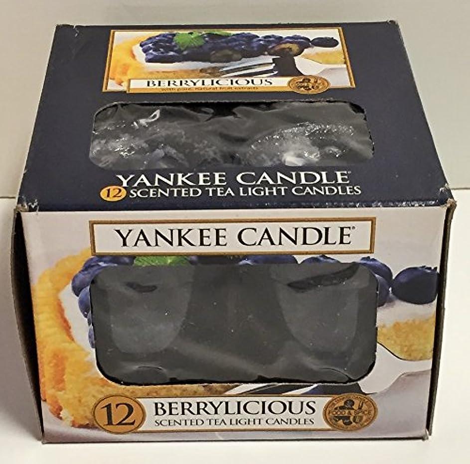 女将誠実さ矢印Yankee Candle Berrylicious、フルーツ香り Scented Tea Lights ブルー 1311125