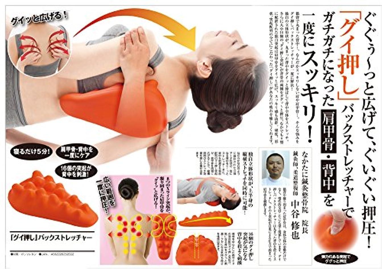 不当協定含む肩こり 解消グッズ 肩甲骨?背中 を一度にスッキリ 人気アイテム グイ押しバックストレッチャー