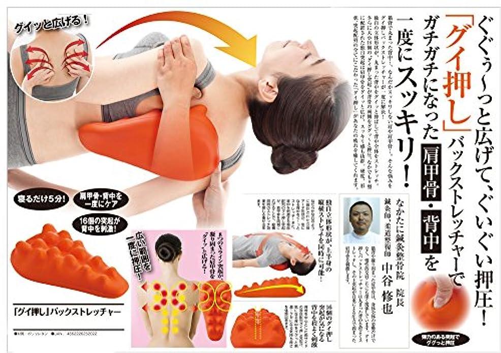 ハブ技術くさび肩こり 解消グッズ 肩甲骨?背中 を一度にスッキリ 人気アイテム グイ押しバックストレッチャー