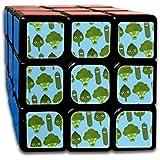 おもしろ野菜 スピードキューブ 3x3x3 立体パズル ポップ防止 回転スムーズ 競技用 55x55x55mm 知育玩具 脳トレ プレゼント カスタムデザイン