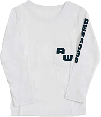 Plus Nao(プラスナオ) 長袖Tシャツ カットソー ロンT プリントTシャツ ロゴ カジュアル 子供服 男の子 女の子 男児 女児 トップス プリント