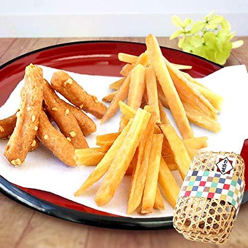 お歳暮 ギフト お芋かりんとう竹籠入り3種詰め合わせ