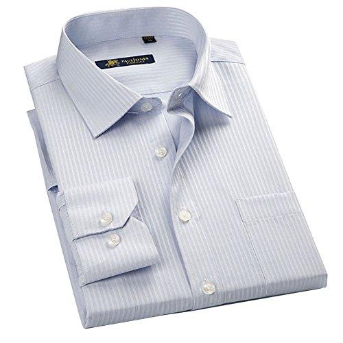 GOMYビジネスシャツ ワイシャツ メンズ 長袖 形態安定 豊富な8サイズ/17カラー展開 洗濯機で洗える レギュラー トップス