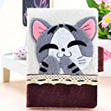 ねこ の カードケース 初心者 向け 手芸 キット パッチワーク 不織布 ( 子猫 の チーズ )