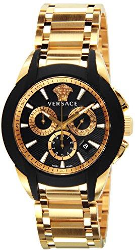 [ヴェルサーチ]VERSACE 腕時計 キャラクタークロノ ブラック文字盤 ステンレス(PGPVD) クロノグラフ M8C80D009S080 メンズ 【並行輸入品】