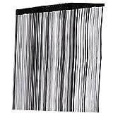 【 圧迫感の無い仕切り 】 ストリング カーテン ひも のれん 100 × 200 cm 間 仕切り インテリア (ブラック) SD-SCRTAPE-BK