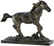 Gifts & Decor Wild Stallion Galloping Horse Figure Statue Home D