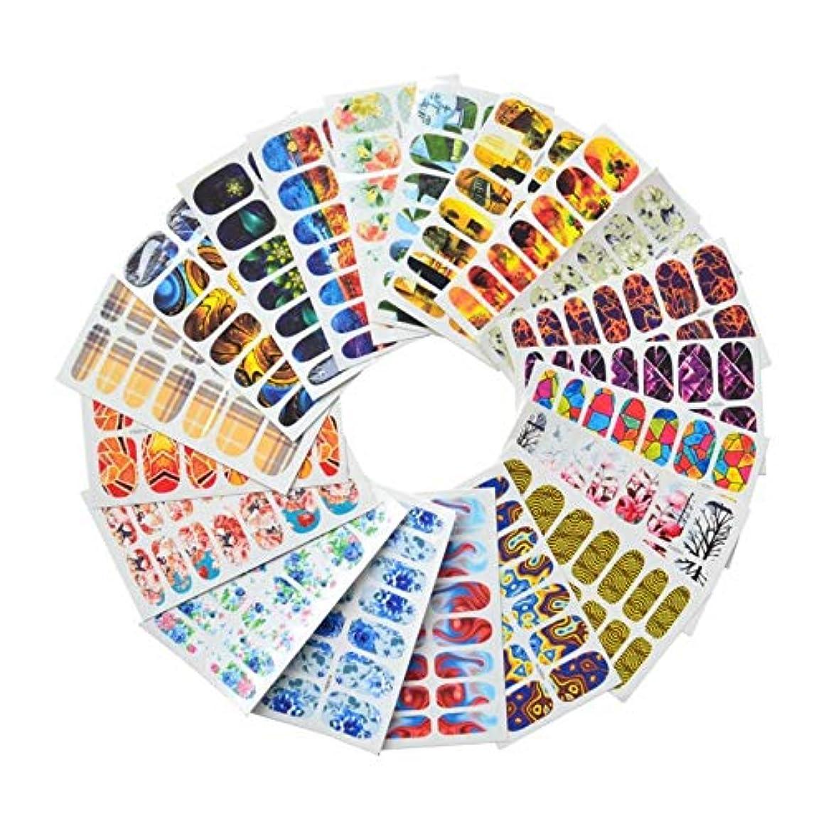 機械半ば抜粋20ピースネイルアート水転写ステッカーネイルアートデカールネイルアートデコレーションマニキュア装飾フルラップパッチdiy