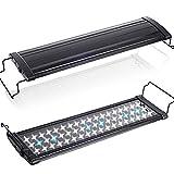 (トクトヨ)Tokutoyo 水槽用照明ランプ LEDアクアリウムライト 54連 白/青 45cm~65cm 長寿命 収縮可能 お気軽に LED400