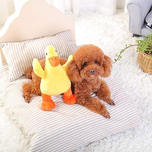 Petiwa 犬おもちゃ 子犬おもちゃ ペット用おもちゃ 音 かも 歯ぎ清潔 ストレス解消犬噛む ぬいぐるみ 発声装置搭載 音の出るおもちゃ 丈夫 ペットトイ ペット用品 運動不足解 小さな黄色いアヒル (1個セット)