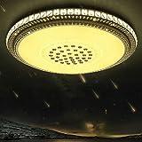 ラウンドLEDクリスタルシーリングライトリビングルームライトモダンシンプルなベッドルームライト暖かいレストランライト直径40cmモノクロホワイトライト