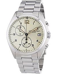 Hamilton ハミルトン メンズ 時計 腕時計 Men's 'Khaki Aviation' Swiss Quartz Stainless Steel Dress Watch, Color:Silver-Toned (Model: H76512155)