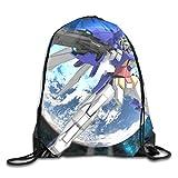 Gundam 機動戦士ガンダム ジムサック バッグ ナップサック マルチバッグ プールバッグ 防水仕様 サイクル スポーツ 通勤 登山 巾着袋 アウトドア 軽量 男女兼用