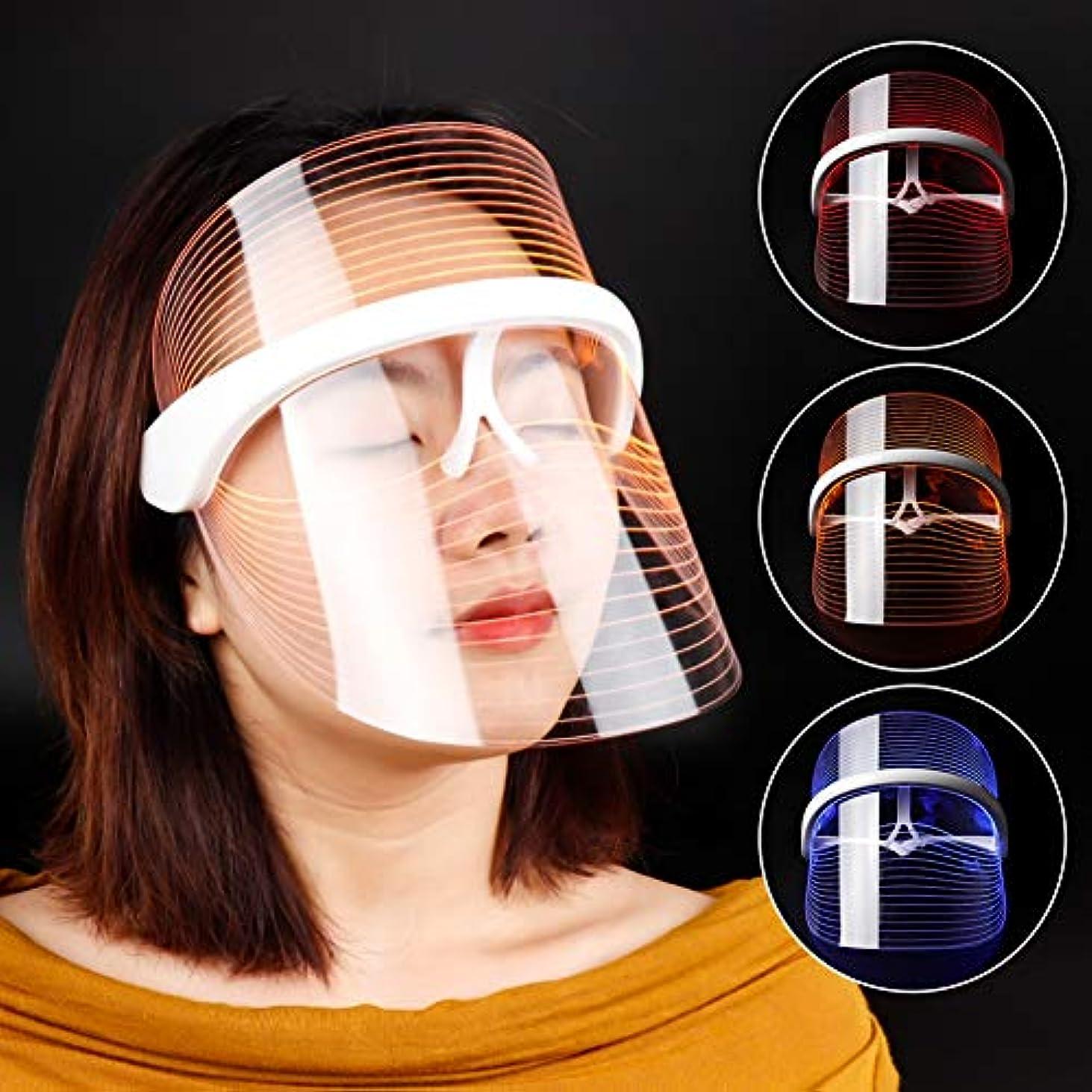愛マキシム彫刻家3色LEDライトセラピーフェイスマスクアンチエイジングアンチリンクルビューティーツールフェイシャルスパインストゥルメントビューティーデバイススキンタイトニング