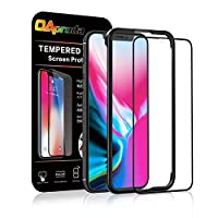 OAproda iPhone X 全面保護フィルム アイフォンテンガラスフィルム iPhone 10ガラス液晶強化 全面フルカバー【存在感ゼロ/画面鮮やか高精細/貼り付け簡単/本体の湾曲する端まで貼れる】ブラック(黒)