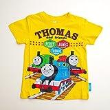 きかんしゃトーマス 半袖Tシャツ 100cm/110cm/120cm (742TM0031) (100cm, イエロー)